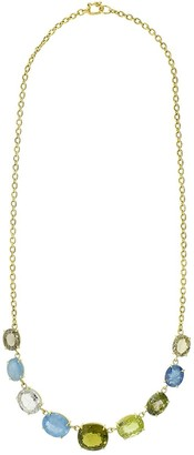 Irene Neuwirth 18kt yellow gold One-of-A-Kind Aquamarine and Tourmaline necklace