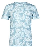 Burton Mens Mint All Over Leaf Print T-Shirt