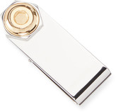 Dunhill Men's Hex Silver Money Clip w/ Gold Plating