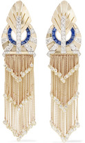 Fred Leighton - Collection 1940s 18-karat Gold, Sapphire And Diamond Clip Earrings - one size