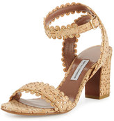Tabitha Simmons Leticia Scalloped Cork Sandal, Natural/Gold