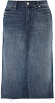 Mother Stretch-denim Skirt - Mid denim