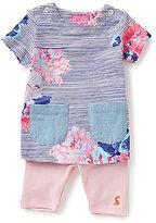 Joules Baby Girls Newborn-12 Months Printed Patch-Pocket Tee & Leggings Set