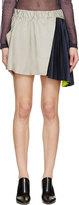 Thomas Laboratories Tait Grey Taffeta & Satin Memory Skirt