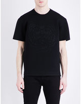 Kenzo Tiger-embossed Neoprene T-shirt