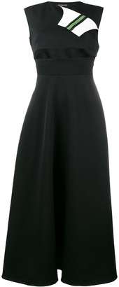 Calvin Klein Marching Band sleeveless midi dress