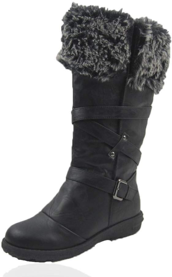 Comfy Moda Womens Winter Ice Snow Boots Cold Weather Faux Fur Full Lined Manmade Leather Jessica