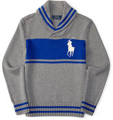 Ralph Lauren Combed Cotton Shawl Sweater