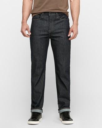 Express Slim Straight Dark Wash Stretch Jeans