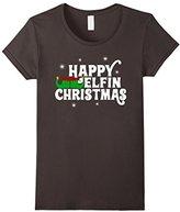Women's Happy Elfin Holidays Christmas Sweater Shirt Small