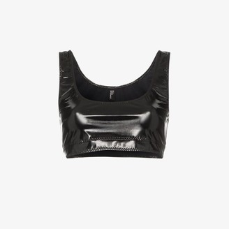 Lisa Marie Fernandez Zani sleeveless PVC crop top