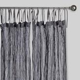 Cost Plus World Market Gray Crinkle Voile Cotton Curtains, Set of 2