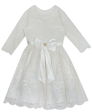 Rare Editions Big Girl lace skater dress with flutter sleeves