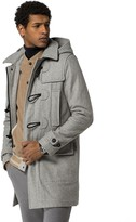 Tommy Hilfiger Melange Wool Duffle Coat