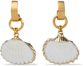Thumbnail for your product : Elizabeth Cole 24-karat Gold-plated Faux Shell Earrings