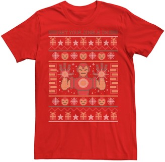 Iron Man Men's Marvel Get Your Jingle On Holiday Tee
