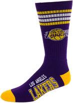 For Bare Feet Los Angeles Lakers 4 Stripe Deuce Crew 504 Sock