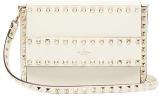 Valentino Rockstud Leather Cross-body Bag - Womens - Ivory
