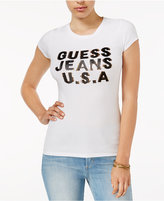 GUESS Sequined Logo Graphic T-Shirt