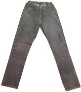 IRO Grey Leather Trousers