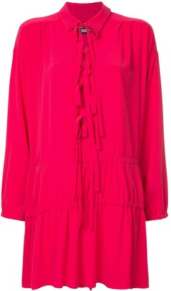 Moschino drop waist tunic with tie detail