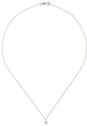 Kismet by Milka 14kt rose gold Struck diamond star necklace