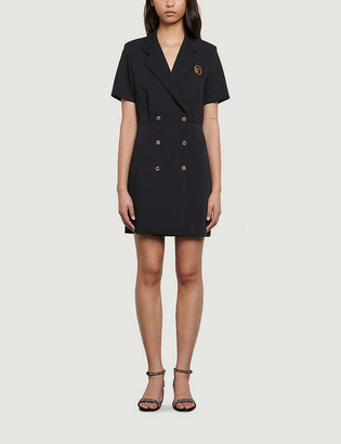Sandro Banes double-breasted crepe dress