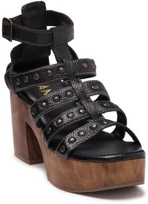 ROAN Curry Studded Leather Platform Sandal