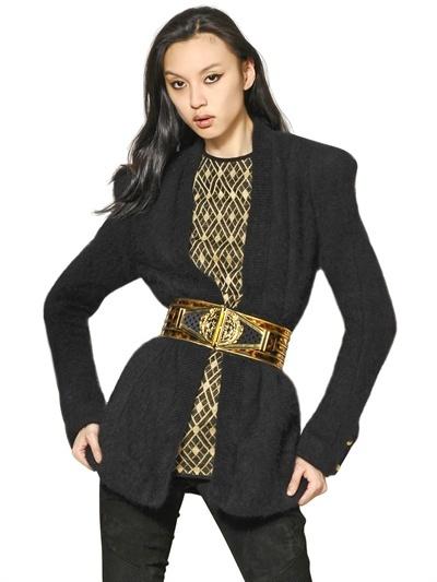Balmain Angora Knit Jacket