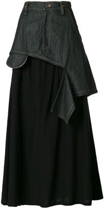 Yohji Yamamoto Pre Owned Layered Deconstructed Skirt