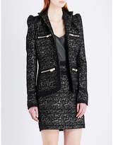 Alexandre Vauthier Single-breasted metallic tweed blazer