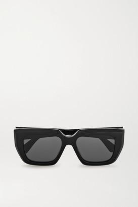 Bottega Veneta Oversized Square-frame Acetate Sunglasses - Black