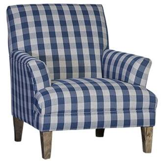 Triton Gracie Oaks Marcell Armchair Gracie Oaks Upholstery Color: Polyester Dabney Plaid, Leg Color: Driftwood