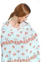 RTWAY Nursing Cover for Breastfeeding, Baby CarSeat Canopy Covers Fu Coverage 100% Cotton Breathabe Cover Up for Breast Feeding Babies