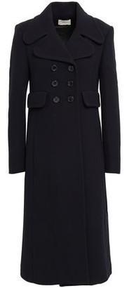 BA&SH Edgar Double-breasted Wool-blend Crepe Coat