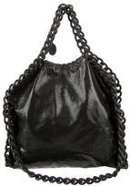 Stella McCartney Patent Shaggy Deer Falabella Small Foldover Tote