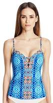 Bleu Rod Beattie Women's Mykonos Multi Print Plunge Push up Tankini