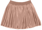 Mayoral Accordion-Pleated Metallic Skirt, Light Pink, Size 8-16