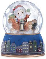 Precious Moments Santa Sleigh Musical Water Globe