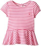 Ralph Lauren Jersey Stripe Short Sleeve Tee (Infant)
