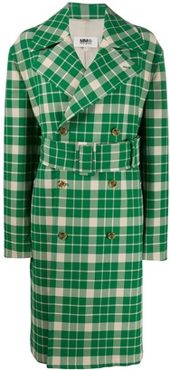 MM6 MAISON MARGIELA Checked Belted Trench Coat