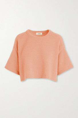 Sally LaPointe Cropped Cashmere Sweater - Peach