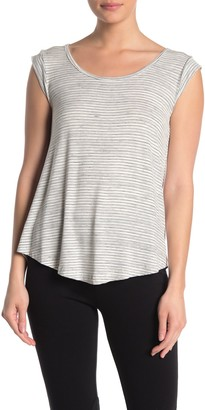 Bobeau Stripe Cap Sleeve Top
