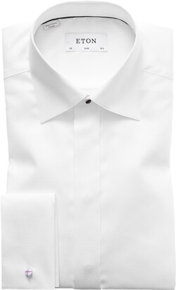 Eton Slim Fit Textured Formal Dress Shirt