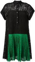 No.21 pleated front lace dress - women - Silk/Cotton/Polyamide/Acetate - 42
