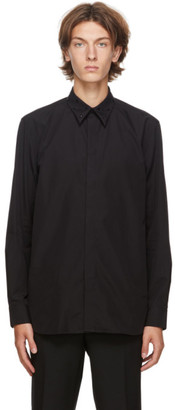 Givenchy Black Embroidered Collar Shirt