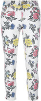 House of Holland roses print skinny jeans - women - Cotton/Spandex/Elastane - 12