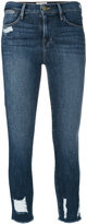 Frame distressed cropped jeans - women - Cotton/Polyester/Spandex/Elastane - 27