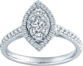 FINE JEWELRY 5/8 CT. T.W. Diamond 14K White Gold Marquise Ring