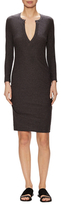 James Perse Melange Cotton Sheath Dress